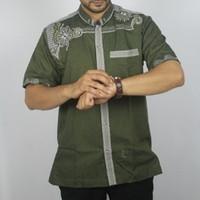 Diskon Murah Koko Hijau Bagus Baju Atasan Pria Semi Formal