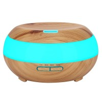 H24 - Wooden Humidifier Aroma Diffuser 7 Color LED Light 300ml