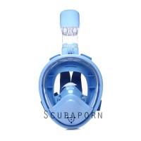 Full Face Dry Snorkeling Mask KIDS GEN 2 - BLUE XS