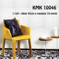 WALLPAPER BATA PUTIH ABU KMK 1046 ( L 45CM X Panjang 10M)
