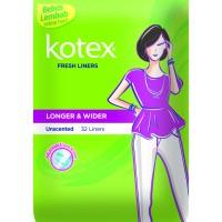 [2 PACK] Kotex Fresh Liner Longer & Wider Unscented (32 pcs)
