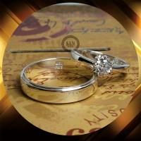 cincin kawin emas putih dan perak p5366