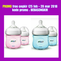Botol susu philips avent natural bottle twin isi 2 x 125 ml Biru