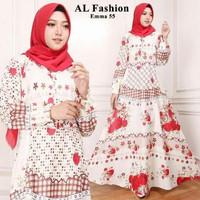 Malala Hijab Maxi Dress Katun Emma NEW Busana Muslim Abaya Gamis Korea