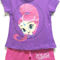 Setelan Karakter Anak Princess Putri Jasmine Ungu-Fanta sz 1-6 Disney