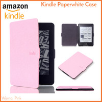 Kindle Paperwhite Case Pink - PU Leather Smart Magnetic Cover