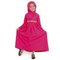 Baju Lebaran Gamis Baju Muslim Anak Perempuan Set Motif Bun