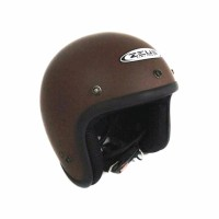 KA Helm Zeus Retro ZS 385 c Matte Brown vespa cafe racer