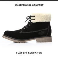 Harga original xper brand men lace up winter shoes boots pria high   antitipu.com