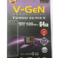 MicroSD V-GeN Turbo 64GB Class 10 85MB/S (MicroSD VGEN Memory HP)