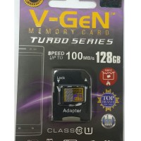 MicroSD V-GeN Turbo 128GB Class 10 85MB/S + Adapter (Memory HP VGEN)