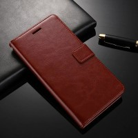 LEATHER FLIP COVER WALLET Lenovo K6 Note - A7700 case hp dompet kulit