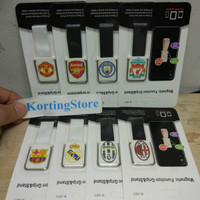 Ungrip Stand Magnetic Logo Football Finger Grip Holder Gantungan HP