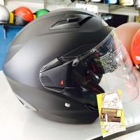 Terbaru Helm Half Paling Top ZEUS 611 replika SHOEI matt black doff h