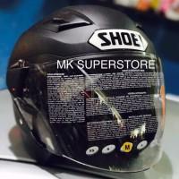 Terbaru Helm Half Paling Top ZEUS 611 matt black doff hitam dop SHOEI