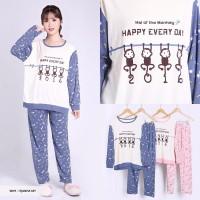 promo Baju Tidur Wanita Lengan Panjang Gambar Monyet Lucu Itjanha wan