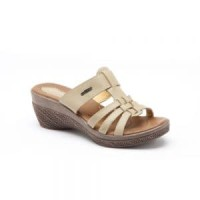SANDAL WEDGES WANITA ORIGINAL BUCCHERI AGATA (CREAM, RED)