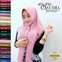 Original Ansania Segiempat Rawis Saudia Polos Hijab / Jilbab Kerudung