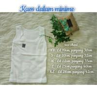 Kaos Dalam Polos Merk MINIME size XL / Pakaian Bayi