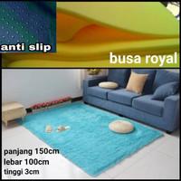 karpet bulu rasfur lembut dan empuk uk 150x100x3cm