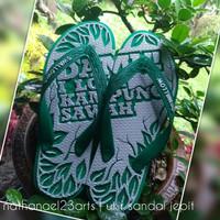 Jual Sandal jepit ukir design custom Murah