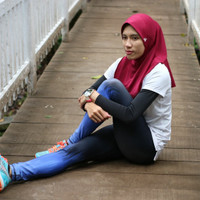TRIPADMA Hijab Sport Maxwell kerudung olahraga sport jilbab yoga zumba