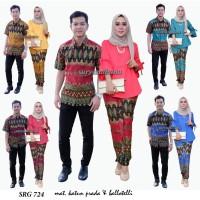 batik couple stelan 724/baju batik muslim/batik solo