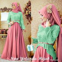 HJ YOLANDA / 2warna geser gambar / baju muslim wanita