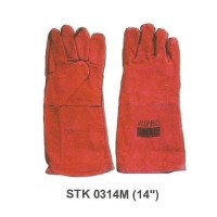 14 Sarung Tangan Kulit Panjang Long Leather Safety Gloves