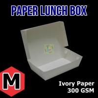 Paper Lunch Box / Kotak Makan Polos Ukuran M (18 x 10.5 x 5 cm) ECER