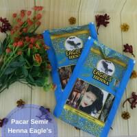 Pacar Semir Bubuk Natural Organik Eagle's Henna Rambut Kuku dan Kulit