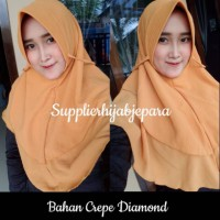 Hijab Bubble crep Diamond 2 Layer cantik