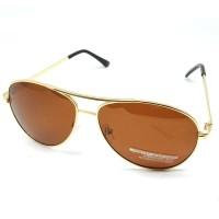 Kacamata Hitam Polarized - Gold