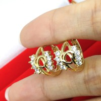 Anting Wanita Xuping Lapis Emas Asli Model Kecil Imut - BE153