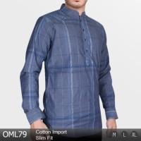 Baju Koko Lengan Panjang Slim Pria OML79 Murah!