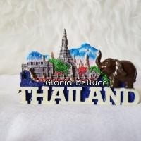 SOUVENIR MAGNET KULKAS MANCANEGARA THAILAND BANGKOK GAJAH