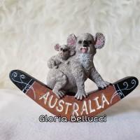 SOUVENIR MAGNET KULKAS MANCANEGARA AUSTRALIA KOALA PERTH SYDNEY