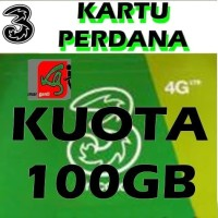 Paket kartu perdana internet tri three 3 aon 102gb 12gb + 90gb 4g lte