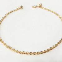 Aksesoris gelang kaki emas kuning perhiasan imitasi 02
