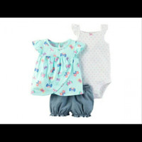 Stelan bayi / baju bayi / stelan jeans bayi perempuan / jeans anak