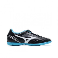 Sepatu Futsal MIZUNO MONARCIDA FS IN (WIDE)- BLACK/WHITE/BLUE ATOLL