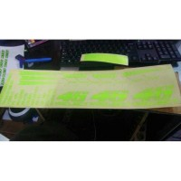 sticker helm cutting sticker vr 46 project agv