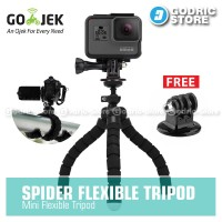 Godric Spider Mini Tripod w/ Tripod Mount for Xiaomi Yi, BRICA & GoPro