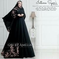 Gamis Syari Modern Setelan Baju Pesta Wanita Muslim Mewah INTANA