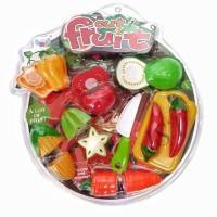 Mainan Anak CUT FRUIT 389-12A - MAINAN ANAK BUAH POTONG SAYUR POTONG