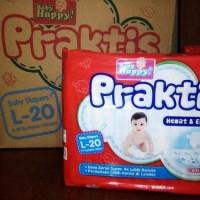 Harga baby happy praktis diapers l20 popok bayi | Hargalu.com