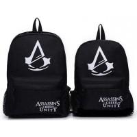 Tas Ransel Backpack Glow in The Dark - Hitam - Assassin's Creed