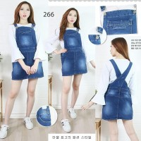 baju kodok rok pendek overall jeans jumbo size 2xl 3xl 4xl tanpa inner