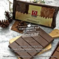 Cokelat Tulip Dark Chocolate Compound Coklat Batang 200 gr Repack