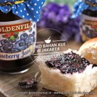 Selai Blueberry Premium Goldenfil Blueberry Jam 50% Buah Asli 350gr